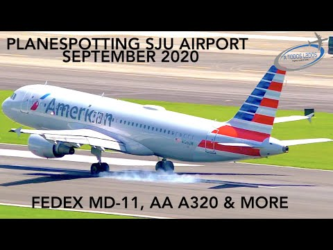 PLANESPOTTING ON SAN JUAN PUERTO RICO - AMERICAN A320 - FEDEX MD11 & MORE - SEPTEMBER 2020 - PART 5