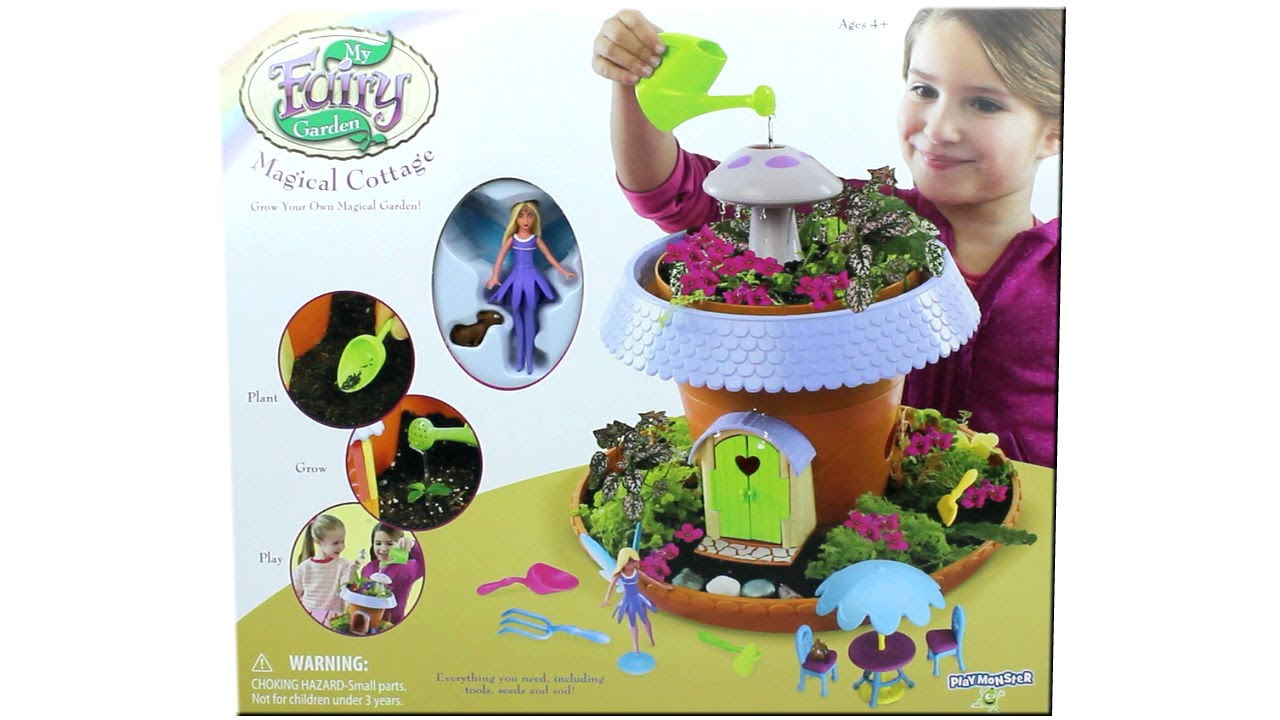 My Fairy Garden Magical Cottage Grow Your Own Garden Playset Unboxing Toy Review Youtube