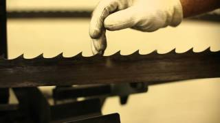 How To Sharpen Bandsaw Blades - Wood-mizer Bms500 - Se Metals