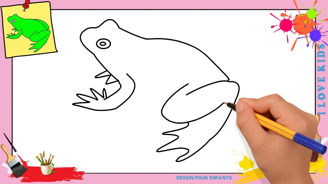 Dessin grenouille facile 3 comment dessiner une - Comment dessiner une sorciere facilement ...