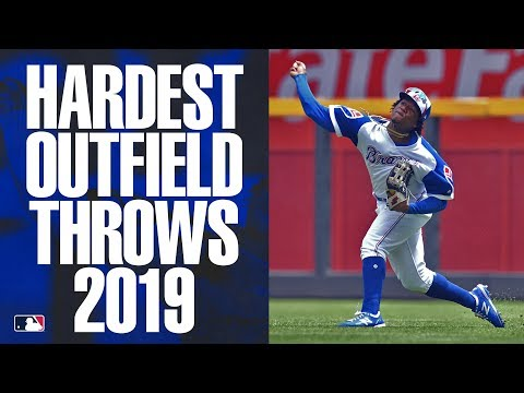 The Hardest Outfield Throws of 2019   MLB Highlights