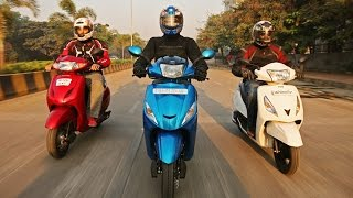Mahindra Gusto vs Honda Activa vs Hero Maestro vs TVS Jupiter  | Specifications Comparison