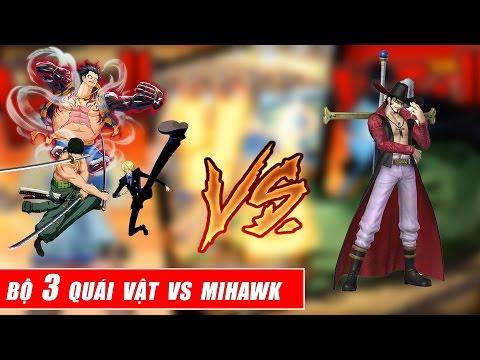 Song đấu One Piece : Tay Kiếm Mạnh Nhất Thế Giới Mihawk Vs Bộ 3 Quái Vật Băng Mũ Rơm