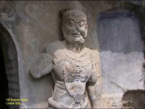 Luoyang Longmen-Grotten (Drachentor-Grotten) Longmen Grottoes (Dragon's Gate Grottoes) 洛阳市: 龙门石窟 (1)