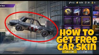 How to get free car skin in pubg
