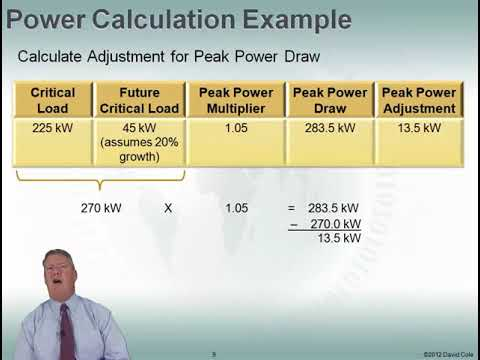 Fundamentals Of Data Center Power: Power Calculations