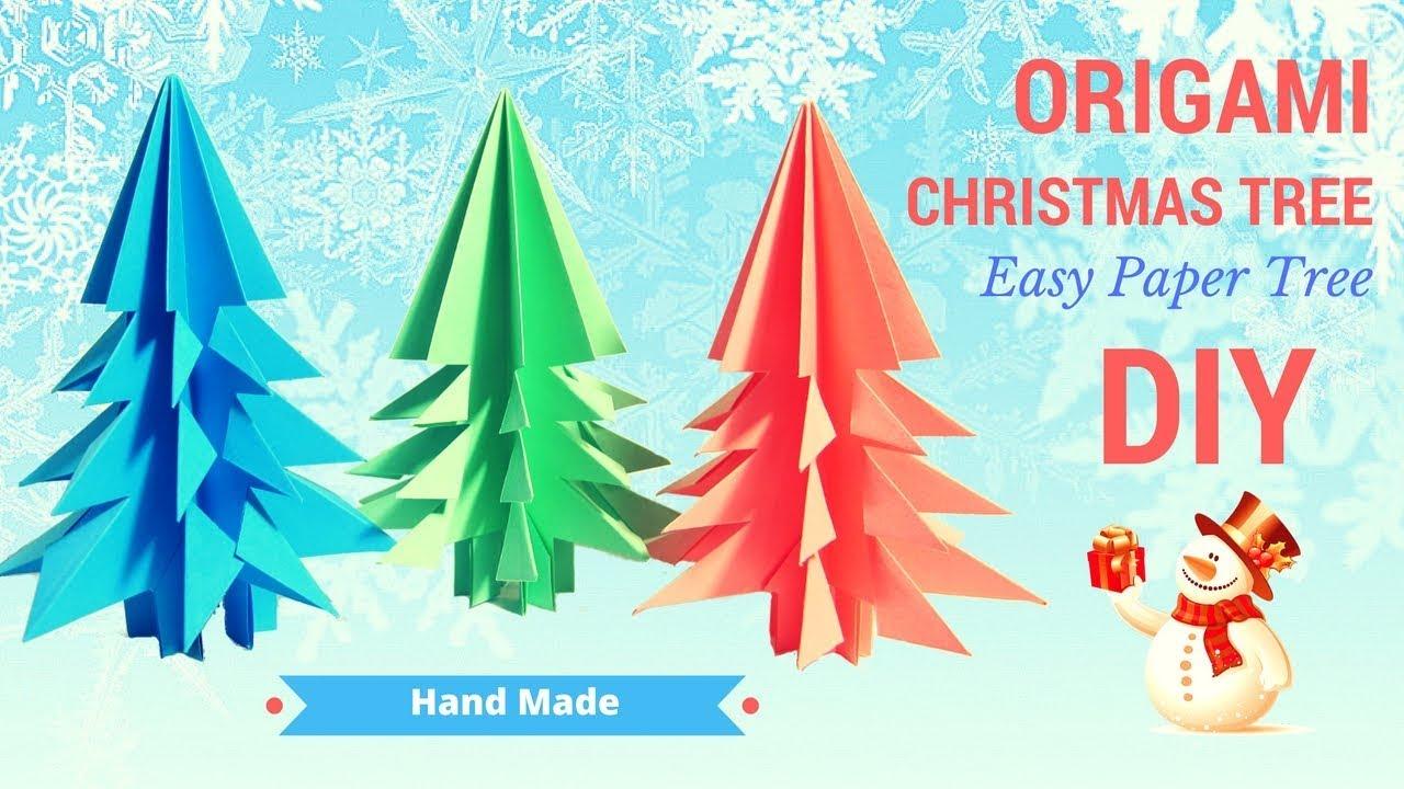 Christmas Tree Paper Craft Origami How To Make Christmas
