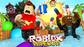 Minecraft ROBLOX - WIPEOUT MADNESS w/LITTLE DONNY - donut the dog minecraft roleplay