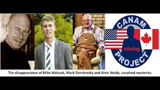 Missing 411, the cases of Mark Dombroski (Athlete), Alvie Webb (Hunter) and Michael Walczak.