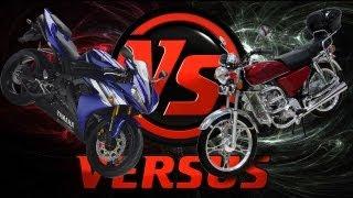 видео Мотоцикл против скутера