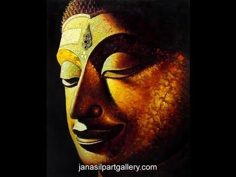 โชว์วาดภาพสีน้ำมันหน้าพระพุทธรูปจาก JANASILP ART GALLERY  ฝีมือขั้นเทพดูเหมือนภาพลอยออกมาเลยครับ