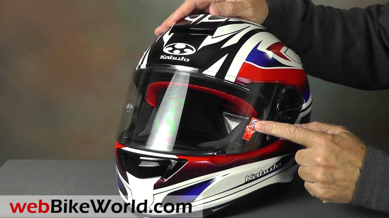 Kabuto RT-33 full face crash helmet review - Billys Crash
