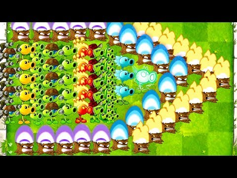 Plants vs Zombies 2 Every Peashooter vs Gargantuar Max Level and Power UP - PVZ 2 Mod