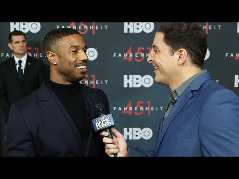 Michael B. Jordan Came to Fahrenheit 451 As Killmonger