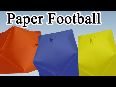 How to make a paper football -Origami Paper Soccer Ball