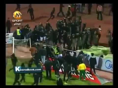 Hooligan Terror on the Pitch - Al-Ahli vs Al-Masri (Port Said) Egypt - Ägypten - 01/02/2012