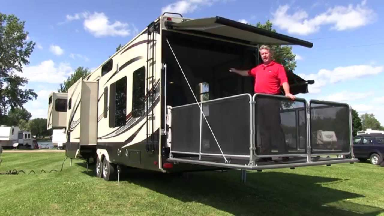 2015 grand design momentum 385th fift for Motor home toy hauler