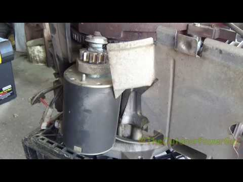 HOW TO REMOVE THE ELECTRIC STARTER ON A 17 5hp BRIGGS & STRATTON INTEK  ENGINE 31C707