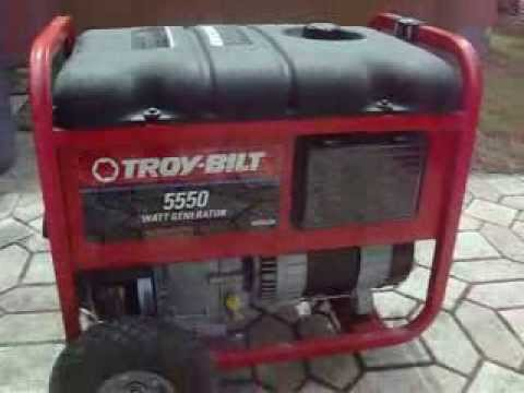 Troy Bilt 5550 Watt Gas Powered Generator  YouTube