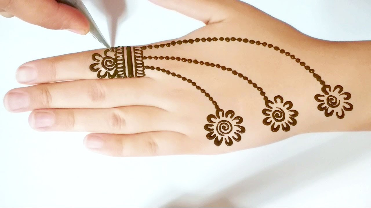 Best collection of simple mehndi designs  best 300  hands mehndi photo   mehndi easy   2021 download. Most Beautiful And Easy Mehndi Designs For Front Hands Simple Henna Designs Youtube