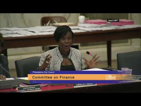 Finance Committee Discussion of Bill No. 161061 6-5-2017