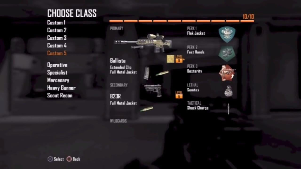 Black Ops 2  Gold Ballista Smackdown BO2 sniper gameplay