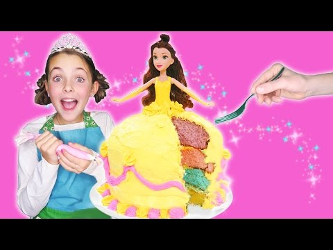 Thumbnail: How to Make Princess Belle Rainbow Dress Cake | Beauty and the Beast | Kids Cooking and Crafts Chef