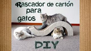 Rascador de cartón para gatos | DIY ❤