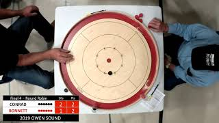 Crokinole 2019 Owen Sound Final 4 - Bonnett v Conrad