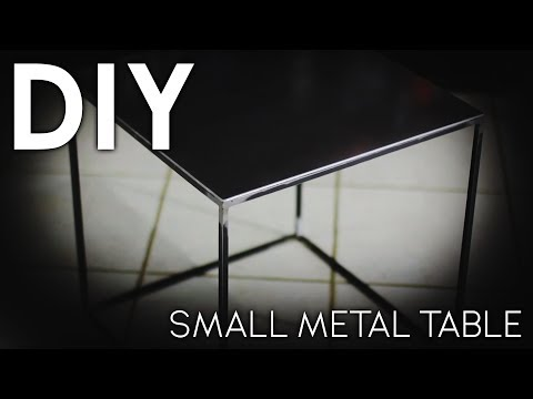 DIY Small Metal Table