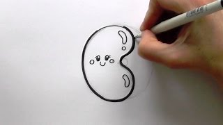 How to Draw a Cartoon Jelly Bean