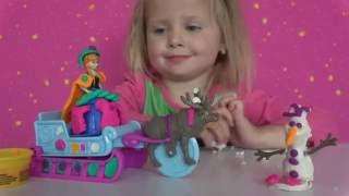 Плей до на русском языке Холодное Сердце Play Doh Frozen