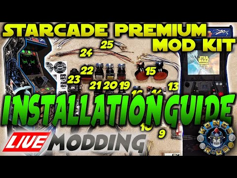 Star Wars Arcade1up - StarCade Mod Kit - Installation Guide (Live Modding Session) from Kongs-R-Us