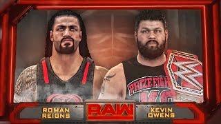 WWE RAW 9/12/16 - Kevin Owens vs Roman Reigns Epic Highlights - WWE RAW 2K16