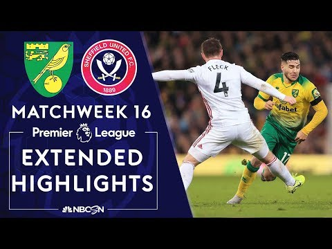 Norwich City V. Sheffield United | PREMIER LEAGUE HIGHLIGHTS | 12/08/19 | NBC Sports