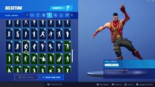 CRIMSON SCOUT SKIN SHOWCASE WITH ALL FORTNITE DANCES & EMOTES
