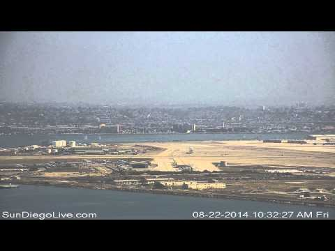 Carl Vinson Carrier Strike Group departing San Diego 8/22/2014 [Cabrillo cam] 1 of 3