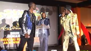 Major Mackerel Dissing Elephant Man at Sting 2013 Launch