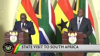 Presidential Diary: State Visit to South Africa