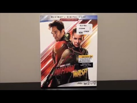 AntMan and the Wasp BluRay UNBOXING