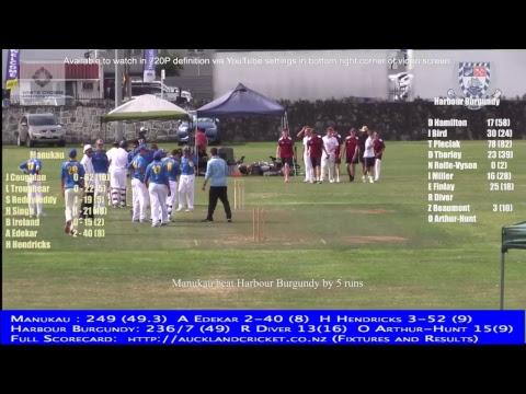 District Tournament Yr 10: Manukau v Harbour Burgundy