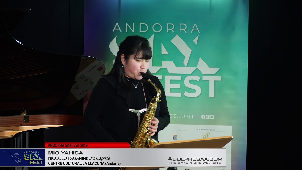 Andorra SaxFest 2019 1st Round   Mio Yahisa   3rd Caprice by Niccolo Paganini