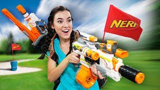 NERF Putt-Putt Golf Challenge! thumbnail