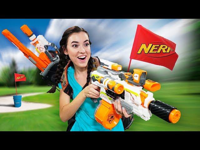 NERF Putt-Putt Golf Challenge!