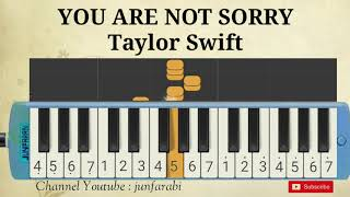 taylor swift you are not sorry melodika
