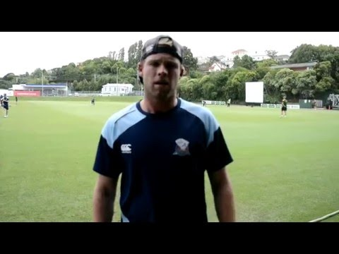 Lockie Ferguson and his pre-match routine.