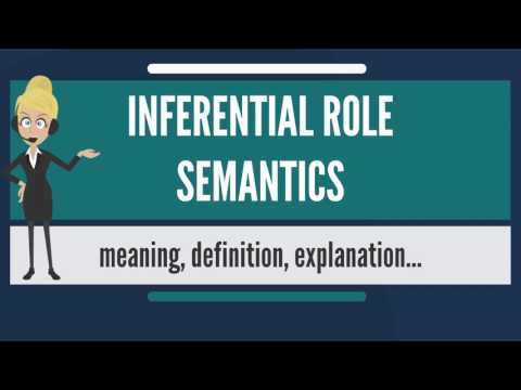 What is INFERENTIAL ROLE SEMANTICS? What does INFERENTIAL ROLE SEMANTICS mean?