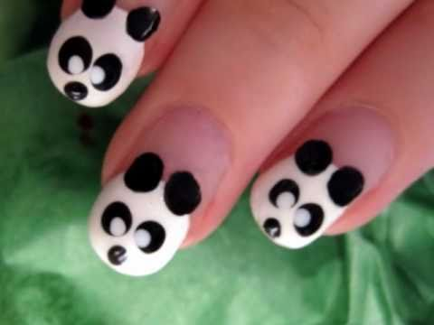 Cute & Easy Panda Nail Art - Cute & Easy Panda Nail Art - YouTube