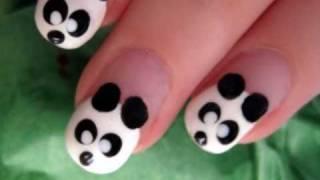Cute & Easy Panda Nail Art