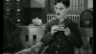 Charlie Chaplin Modern Times Coffee Drinking Funny
